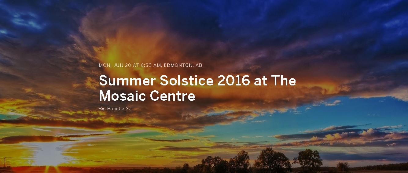 Celebrate Solstice With Us On June 20