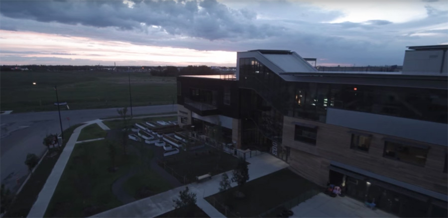Video Flyover Of Mosaic Centre Building Exterior